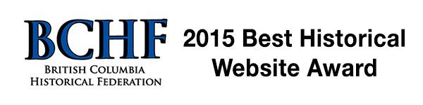BC Historical Federation - 2015 Best Historical Website Award